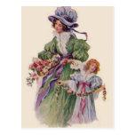Beautiful Mother And Daughter Postcard