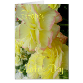 Beautiful Mother's day card pink and yellow Floral