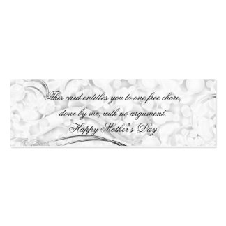 Beautiful Mother's Day Frills Business Cards