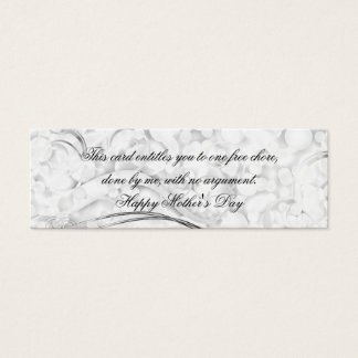 Beautiful Mother's Day Frills Mini Business Card