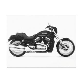 Beautiful Motorcycle 10 Black & White Canvas Print