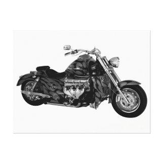 Beautiful Motorcycle 1 Black & White Canvas Print