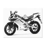 Beautiful Motorcycle 7 Black & White Canvas Prints