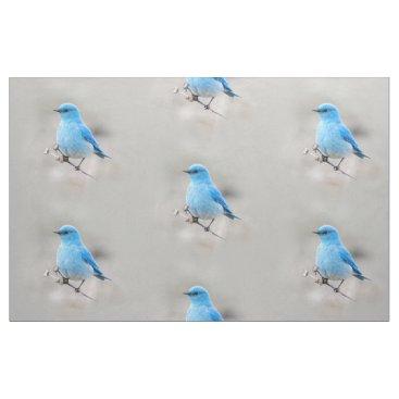 Beautiful Mountain Bluebird Fabric