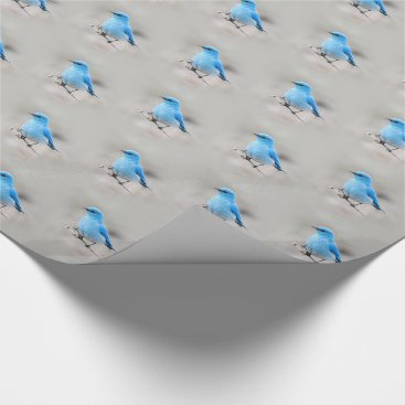Beach Themed Beautiful Mountain Bluebird Wrapping Paper