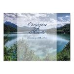 Beautiful Mountain Lake Wedding Invitation