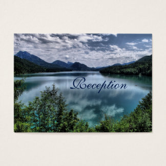 Beautiful Mountain Lake Wedding Reception Cards
