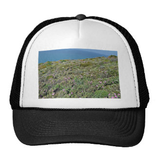 Beautiful Mountain Landscape with Flowers Trucker Hat