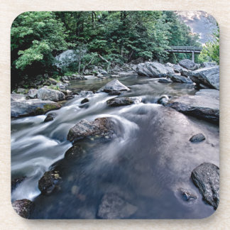 beautiful mountain river nature sunset north carol drink coaster