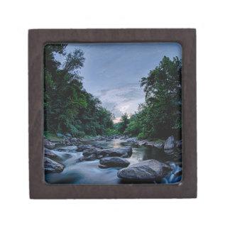 beautiful mountain river nature sunset north carol gift box