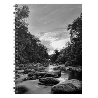beautiful mountain river nature sunset north carol spiral notebooks
