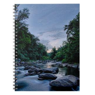 beautiful mountain river nature sunset north carol notebooks