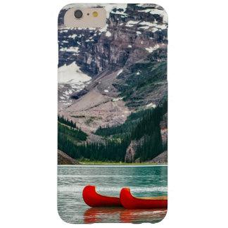 Beautiful Mountain Scene with Red Canoe Phone Case