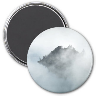 Beautiful mountain top in the clouds photo print magnet