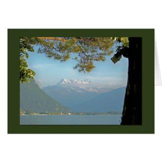 Beautiful mountain view of Swiss Alps Card