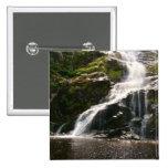 Beautiful Mountain Waterfall Pinback Buttons