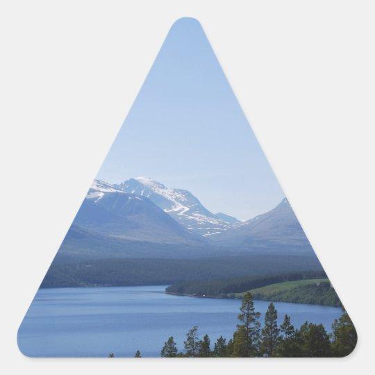 BEAUTIFUL MOUNTAINS TRIANGLE STICKER