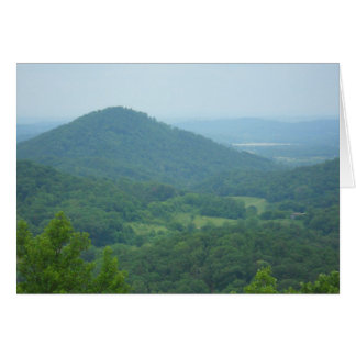 Beautiful mountains view in East Tennessee Greeting Card