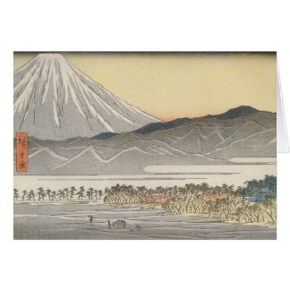 Beautiful Mt. Fuji in Japan circa 1800s Card