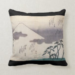 Beautiful Mt. Fuji in Japan circa 1800s Pillows
