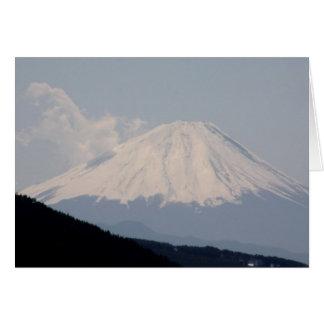 Beautiful Mt. Fuji in Modern Day Japan Card