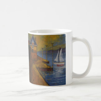 Beautiful mug with Sailboat painting.