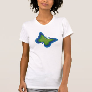 Beautiful multi-color Butterfly Silhouette T Shirt