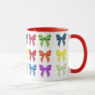 Beautiful Multi Colored Bows Coffee Mug