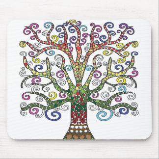 Beautiful Multi-Colored Tree Mouse pad