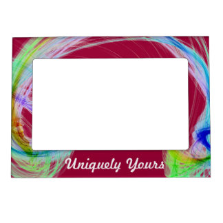 Beautiful MultiColor Light on Maroon Background Picture Frame Magnet