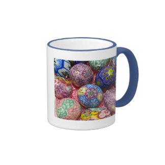 Beautiful multicolored wax Ukranian Eggs Mug