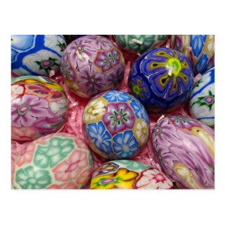 Beautiful multicolored wax Ukranian Eggs Postcards