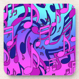 Beautiful Music Colorful Lively Musical Pattern Coasters