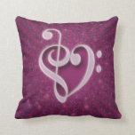 Beautiful music notes put together as a heart pillow