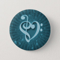 Beautiful Music Notes Put Together As A Heart Pinback Button at Zazzle