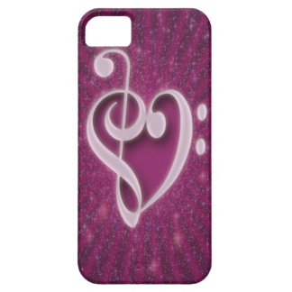 Beautiful music notes put together as heart shape iPhone 5 cover