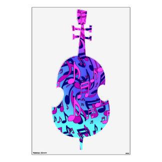 Beautiful Music Upbeat Swirly Musical Pattern Wall Decals