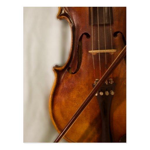 Beautiful Music--Violin Post Card