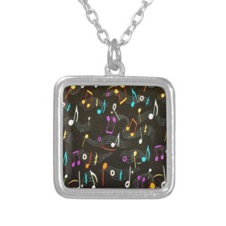 Beautiful Musical Notes Silver Plated Necklace