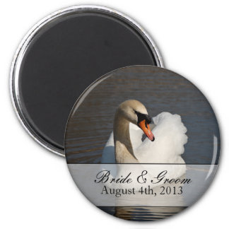 Beautiful Mute Swan Wedding Magnet