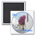 Beautiful Mykonos 2 Inch Square Magnet
