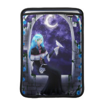 Beautiful Mysterious Anime Girl with a dove MacBook Sleeve