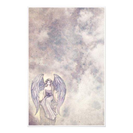 Beautiful Mystic Angel Stationary Stationery | Zazzle