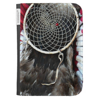 Beautiful Native American Dream Catcher Red Blue Kindle Covers