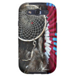 Beautiful Native American Dream Catcher Red Blue Galaxy SIII Cover
