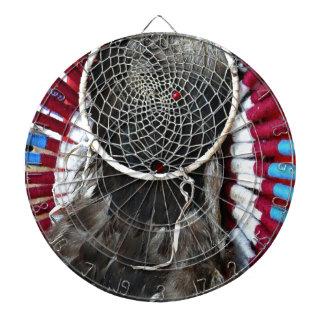 Beautiful Native American Dream Catcher Red Blue Dartboard