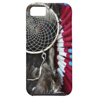 Beautiful Native American Dream Catcher Red Blue iPhone SE/5/5s Case