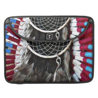Beautiful Native American Dream Catcher Red Blue MacBook Pro Sleeve