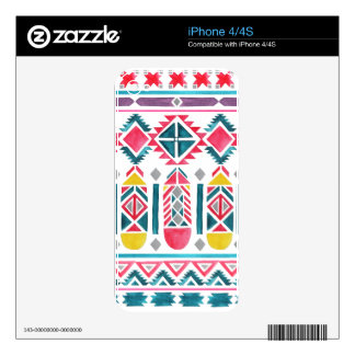 Beautiful Native American Geometric Pattern Skin For iPhone 4