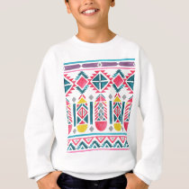 Beautiful Native American Geometric Pattern Sweatshirt